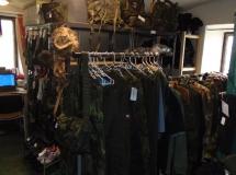 Prodejna vojenského oblečení v Říkovicích