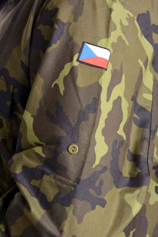 Košile vzor 95 - zelená, hnědá