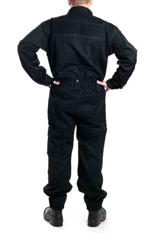 Letní černá policejní kombinéza
