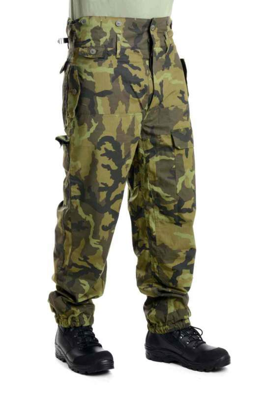 Kalhoty v maskovacím provedení letní RIPSTOP zelené - atypické velikosti