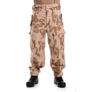 Kalhoty v maskovacím provedení letní pouštní RIPSTOP hnědé – atypické velikosti