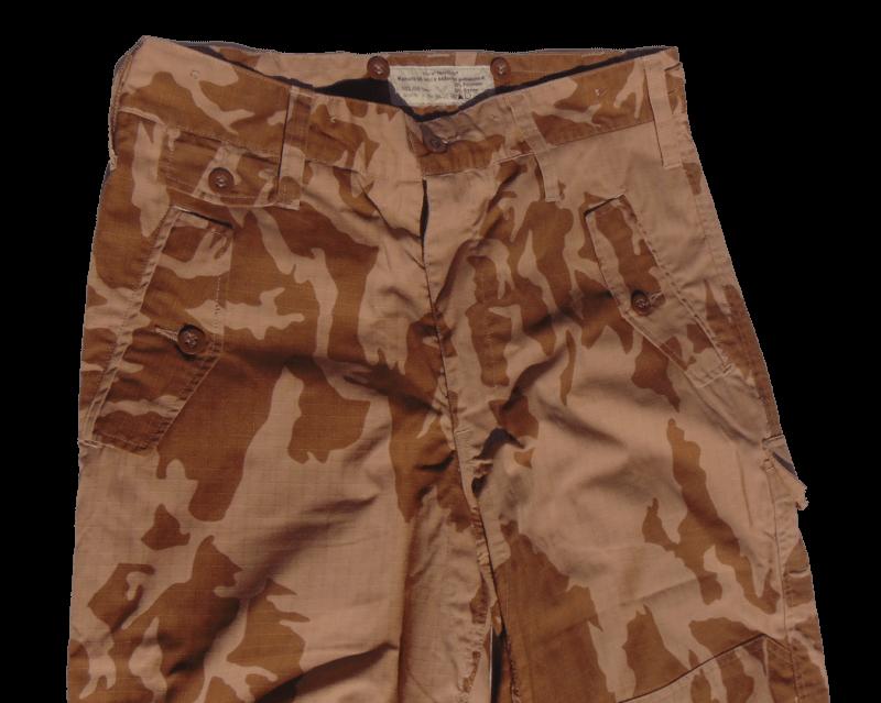 Kalhoty 95 letní s béžovým potiskem (pouštní) RIP-STOP  d6be1b0a89