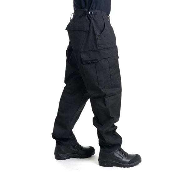 Kalhoty RIPSTOP černé US střih BDU SECURITY MFH Max Fuchs AG