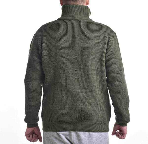 Svetr TROYER ACRYL s límečkem zelený MIL-TEC_DSC_5293